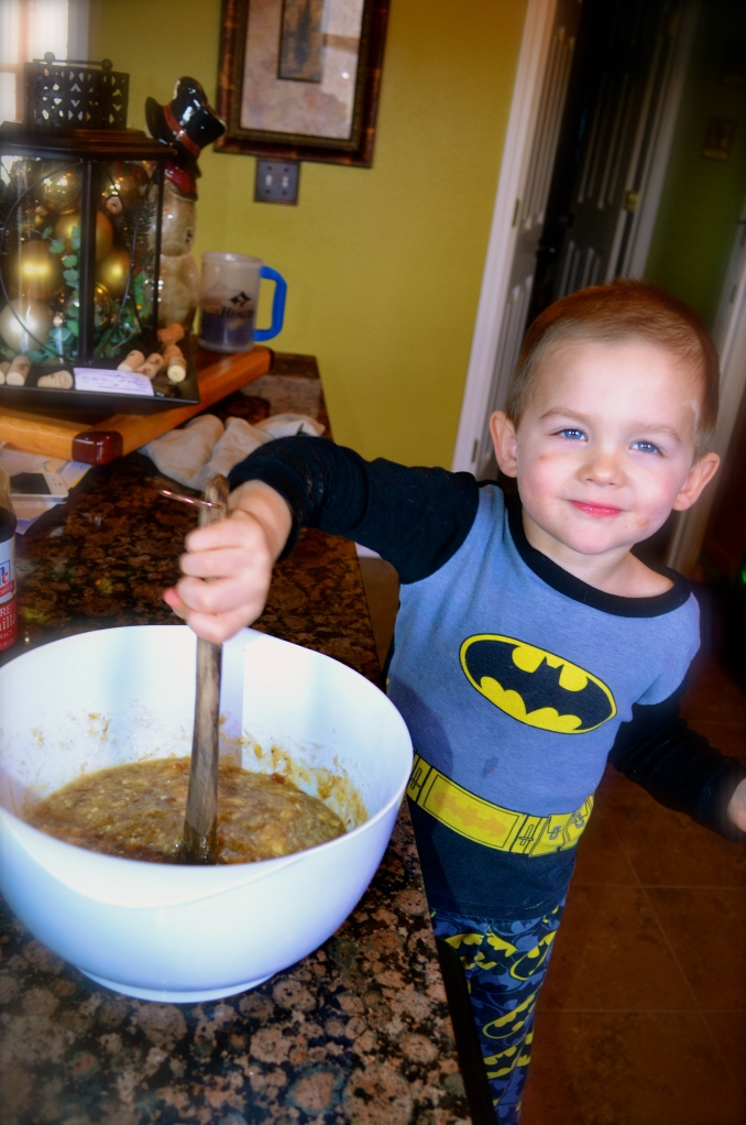 Caston Making Banana Bread
