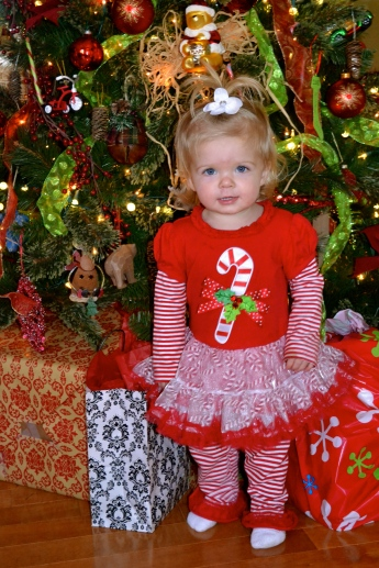 All decked out in her Christmas Best!