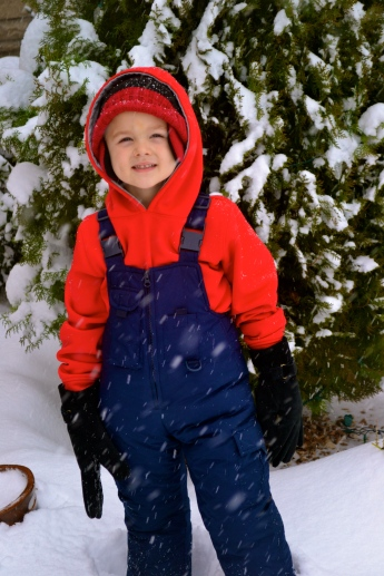 """We had quite the snowfall in December and loved being 'snowed in"""" together!"""