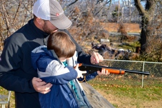 Learning gun safety with dad