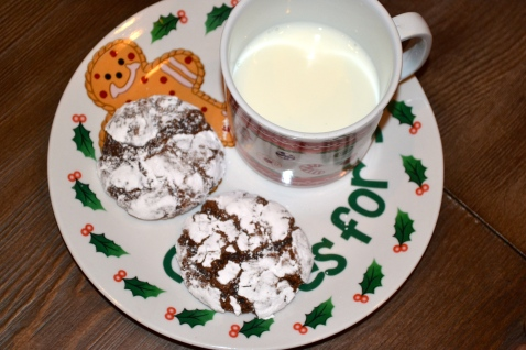 We always make very special cookies for Santa- Chocolate Crinkles