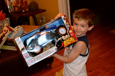 Rock Crawler- remote control truck…that seems to always attack my feet when I'm carrying laundry? Hmmmm….